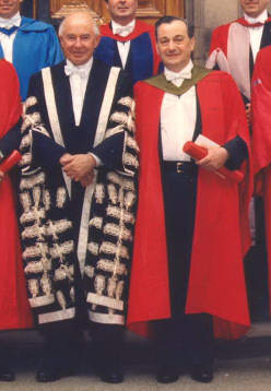 emil wolf and vice-chancellor edinburgh 1990