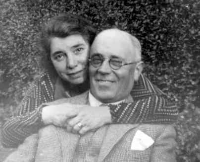 George and Maud Sillitto in the garden of 'Fairfield', Lockerbie, about 1939? Picture by Dick