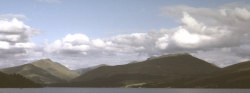 Looking up Loch Fyne from Inveraray - click to enlarge
