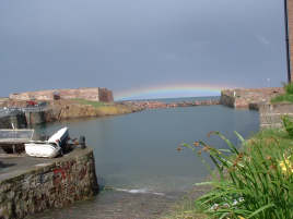 Rainbow at about 1 pm on 1st April 2003; Broadhaven, Dunbar